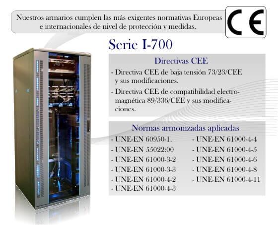 Armario rack I700 normativas y certificaciones