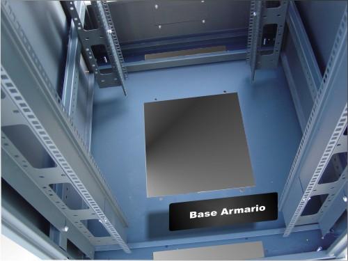 "Armario rack 19"" detalle base"