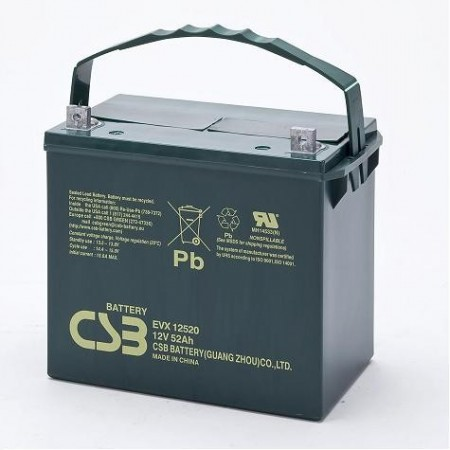 Batería 12V 52 Ah sellada especial vehículos eléctricos