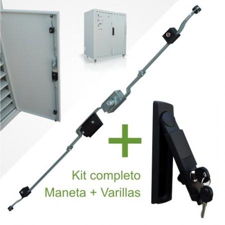 Kit Maneta abatible + sistema cerradura de varillas para Rack
