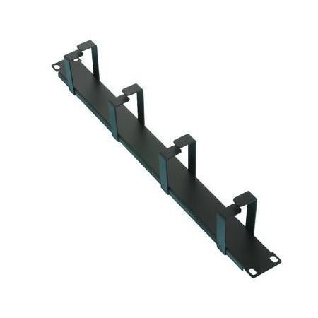 Panel Pasacable Rack 19 1U 4 bocas vertical
