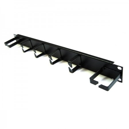 Panel Pasacable Rack 19 1U 4 bocas vertical 2 horizontal