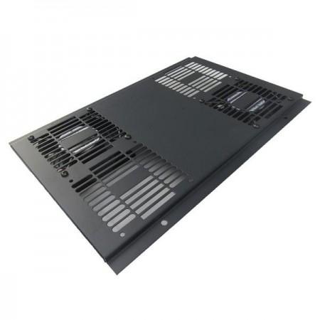 Unidad ventiladores bajo ruido para rack, 2 x ventiladores techo