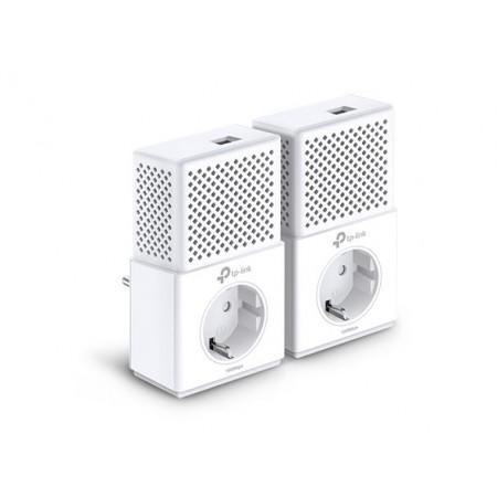 Kit Powerline Tp-Link AV1000 con puerto Gigabit y enchufe incorporado