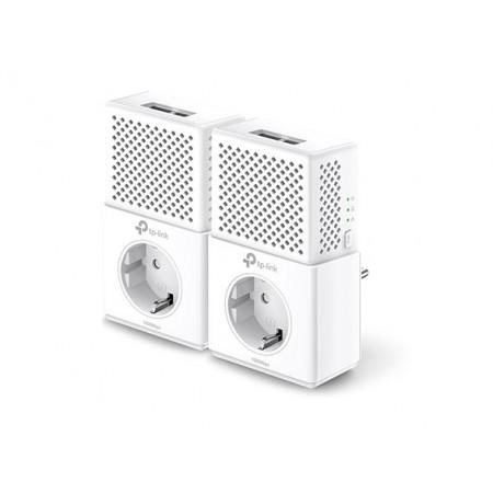 Kit Powerline Tp-Link AV1000 con 2 puertos Gigabit y enchufe