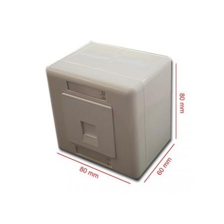 Caja de superficie 80 x 80 1 x RJ45 tipo Keystone