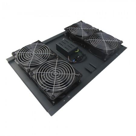Unidad ventilación armario rack, 4 ventiladores techo