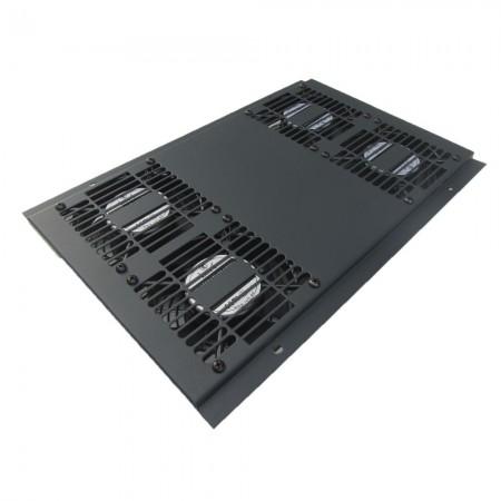 Unidad ventiladores bajo ruido para rack, 4 x ventiladores techo