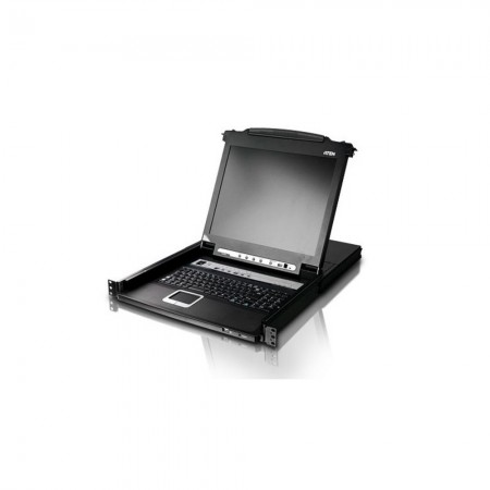 "Consola KVM rack 19"" 1U 8 Port 17"" LCD USB PS/2 VGA"
