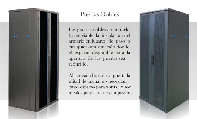 Armarios para servidor con puertas dobles