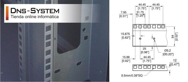 perfil metalico rack 19